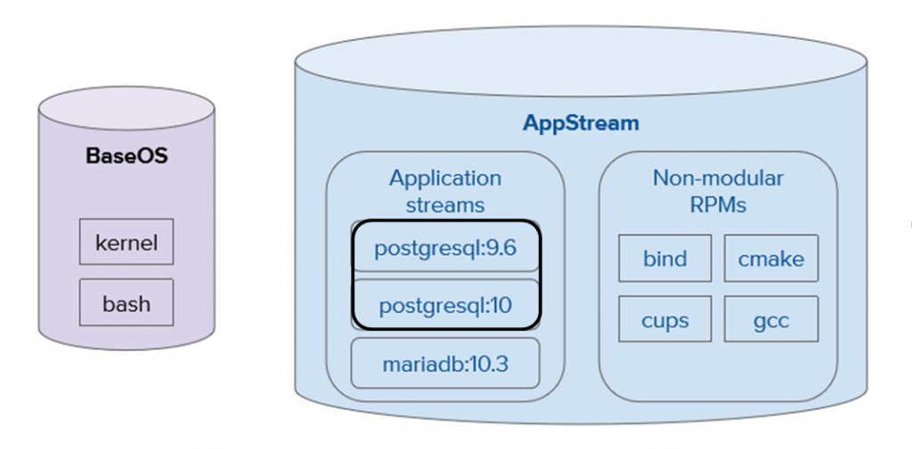 BaseOS and AppStream repositories